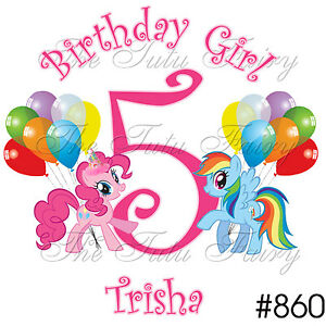 Pinkie Pie Pony Rainbow Dash Ponies Birthday Shirt Name JPG 300x300 Happy