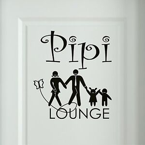 pipi lounge wandtattoo familie wc badezimmer toiletten. Black Bedroom Furniture Sets. Home Design Ideas