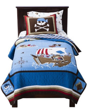 Kids Bedding Pirate Ship & Crossbones Boys Full Quilt, Sheets & Shams Set (7 Piece Bedding) at Sears.com