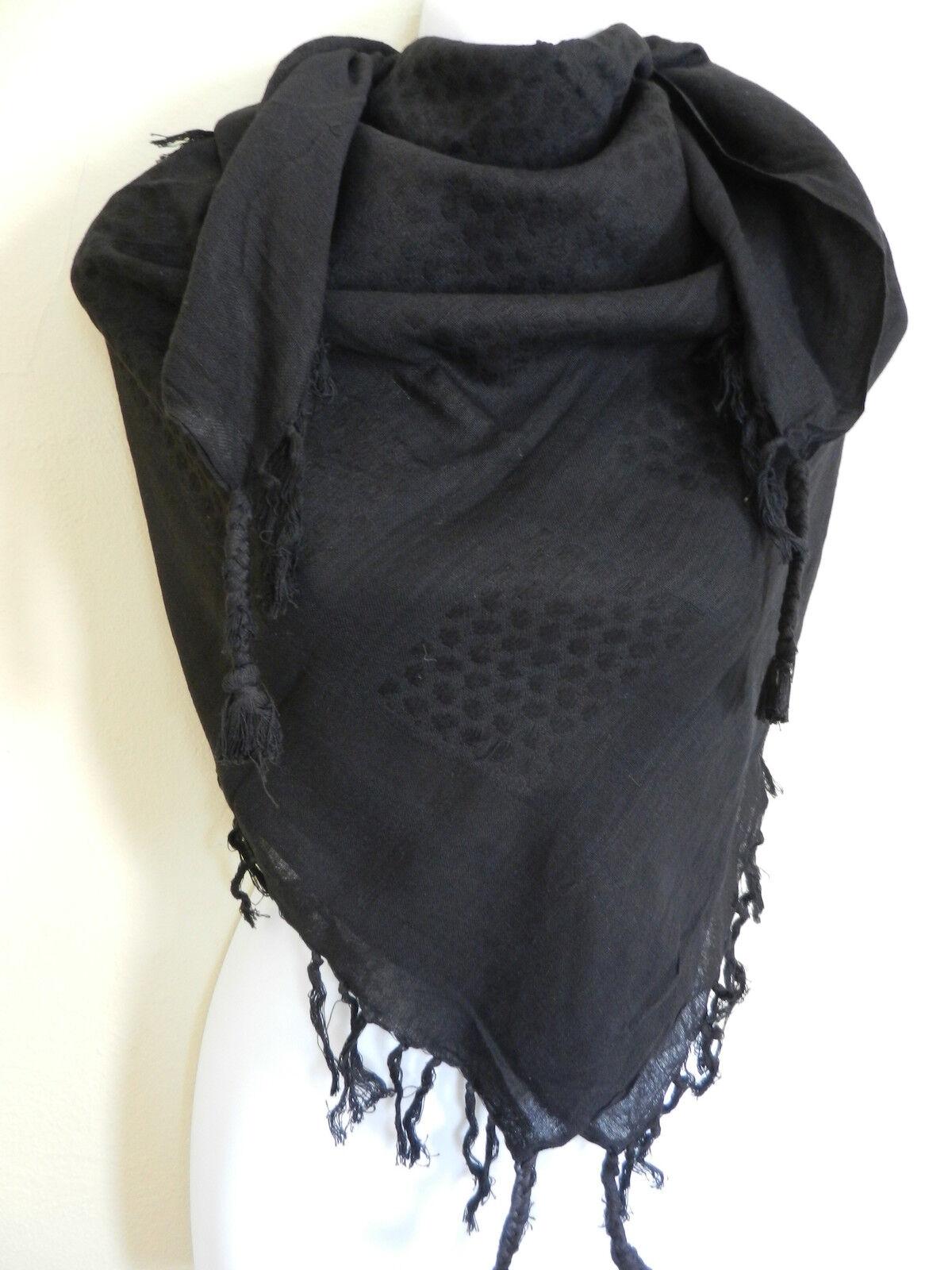 plain black arab shemagh scarf neck wrap arafat