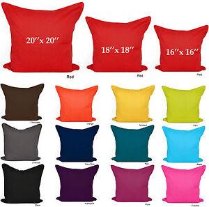 Plain Cushion Covers 100 Cotton Decorative Pillow Cases