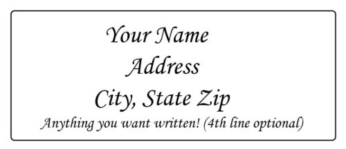 Plain Personalized Custom Return Address Labels Buy 2 get 1 FREE! in Specialty Services, Printing & Personalization, Address Labels-Graphical | eBay