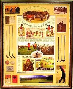 Plakat-Geschichte-GOLF-Golfsport-Golfen-Golfspiel