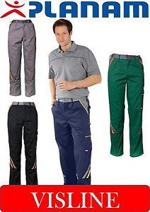 Planam-Bundhose-Visline-Arbeitshose-Berufsbekleidung-alle-Farben-Groessen