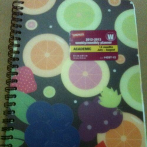 Planner Weekly Monthly 5x8 Fruit PVC Spiral Cover NWT Stocking Stuffers in Books, Accessories, Blank Diaries & Journals | eBay