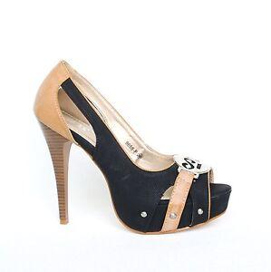 plateau high heels pumps 39 schwarz damenschuhe riemchen. Black Bedroom Furniture Sets. Home Design Ideas