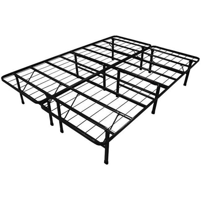 steel bed frame platform no box spring needed metal foldable modern black new ebay. Black Bedroom Furniture Sets. Home Design Ideas