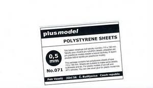 Plus-Model-Plastik-Platten-0-5-mm-0-5mm-110-190mm-2-Stueck-NEU-OVP-Tipp