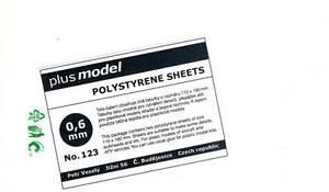 Plus-Model-Plastik-Platten-0-6-mm-0-6mm-110-190mm-2-Stueck-NEU-OVP-Tipp-Diorama