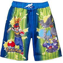 926941230bcab Pokemon Ash Pikachu Swimming Trunks Suit Shorts Size 4 on PopScreen
