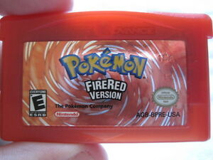 Buying 3rd Generation Games Pokemon Fire Red Cartridge Label
