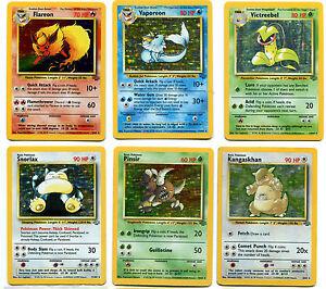 Pokemon Jungle Set Holo Rares 1 16 Nm Jolteon Flareon Vaporeon Snorlax Ebay