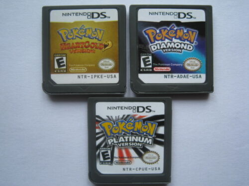 Pokemon Platinum and Pokemon Diamond and Pokemon HeartGold for ndsL ndsi 3DS in Video Games & Consoles, Wholesale Lots, Games | eBay