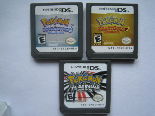 Pokemon Platinum and Pokemon SoulSilver and Pokemon HeartGold for ndsL ndsi 3DS in Video Games & Consoles, Wholesale Lots, Games | eBay