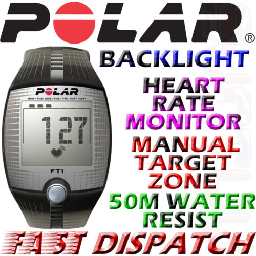 Polar FT1 Computer Heart Rate Monitor Exercise Watch Black 90037558 Brand in Sporting Goods, Exercise & Fitness, Gym, Workout & Yoga | eBay
