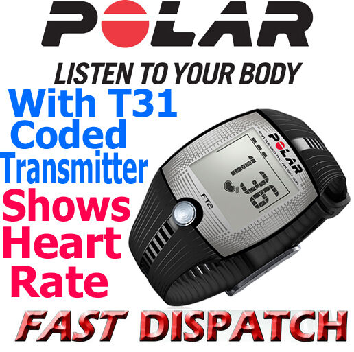 Polar FT2 Fitness Heart Rate Monitor HRM Black Watch Chest Strap Brand