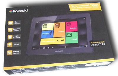 "Polaroid 10 1"" Internet Tablet Dual Cameras 8GB Internal Memory Android 4 0"