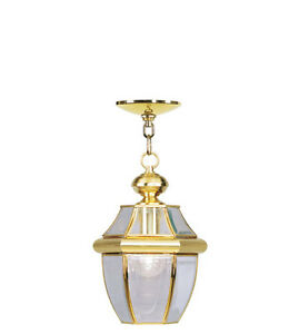 Polished Brass Outdoor Lighting Livex Exterior Porch Light 2152 02 ...