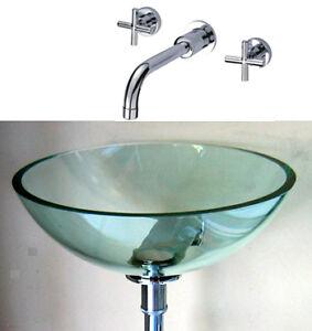 Sink Wall Mount Bracket : ... Wall Mount Bracket for Bathroom Vanity Glass Bowl Vessel Sink eBay