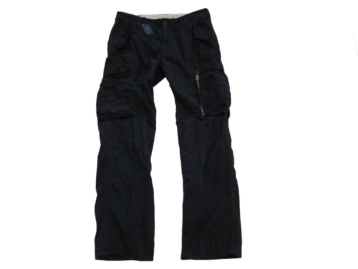 Polo Ralph Lauren Black Military Gunner Cargo Pants 32 x 32