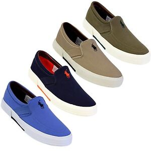 polo by ralph s faxon slip on canvas shoes with