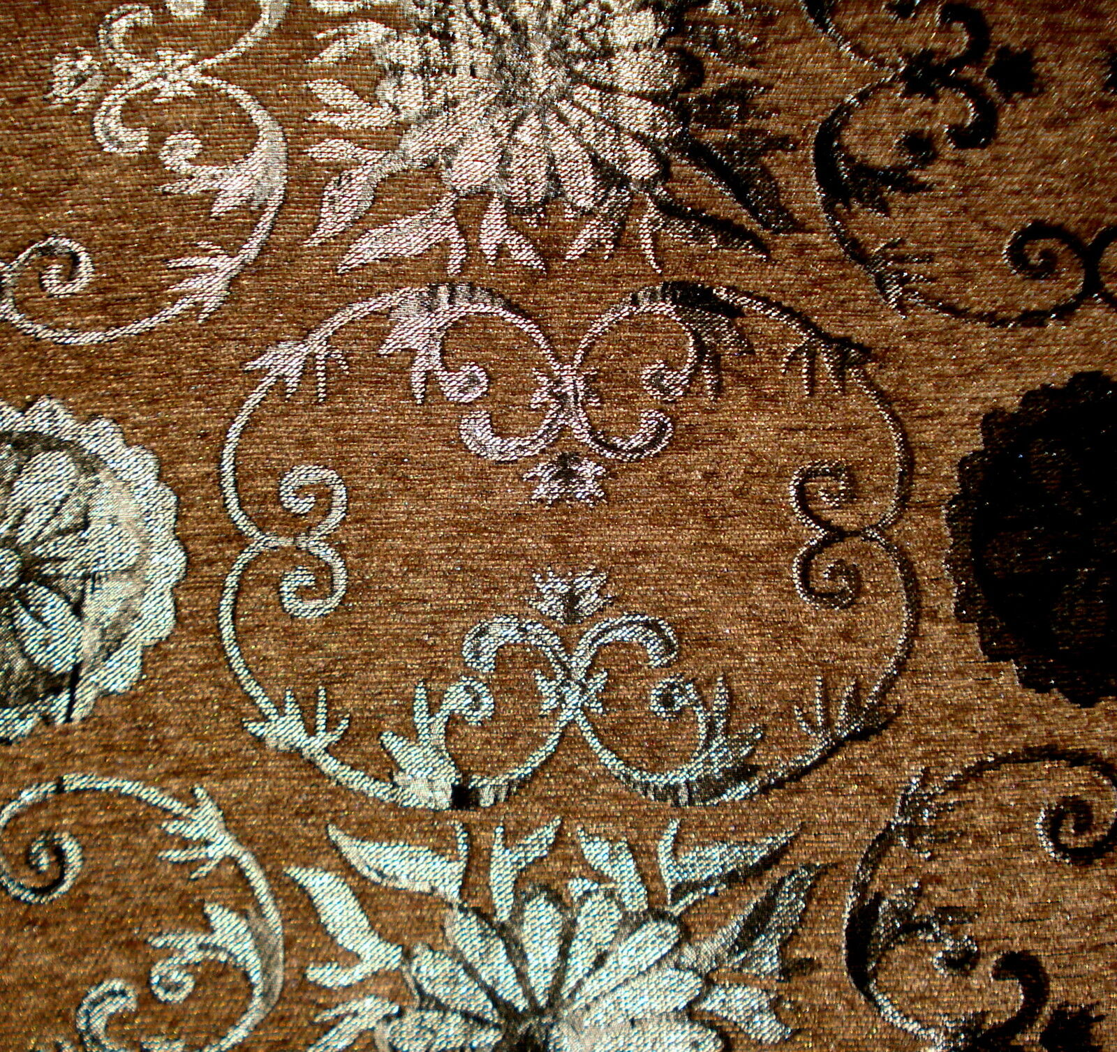 tissu de tapisserie d 39 ameublement baroque antique jaquard chenille webstoff ebay. Black Bedroom Furniture Sets. Home Design Ideas