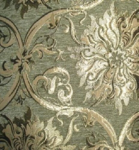 tissu de tapisserie d 39 ameublement baroque antique jaquard chenille webstoff vert. Black Bedroom Furniture Sets. Home Design Ideas