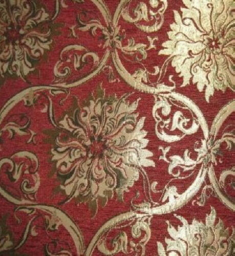 tissu d 39 ameublement baroque antique neu jaquard chenille webstoff rot ebay. Black Bedroom Furniture Sets. Home Design Ideas