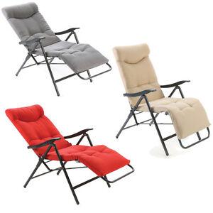 Poltrona letto super imbottita reclinabile 3 colori assortiti sedia sdraio patty ebay - Poltrona reclinabile ikea ...
