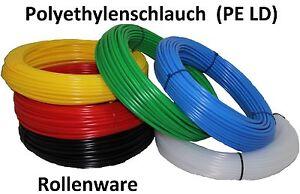 Polyethylen-Pneumatik-Schlauch-Rollenware-PE-viele-Farben-Groessen-Laengen