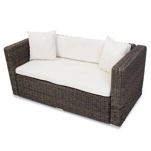 polyrattan grau garten gartensofa poly rattan sofa. Black Bedroom Furniture Sets. Home Design Ideas