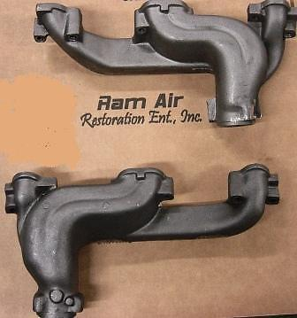 Pontiac RAM Air Exhaust Manifold Set D Port HO 2 5