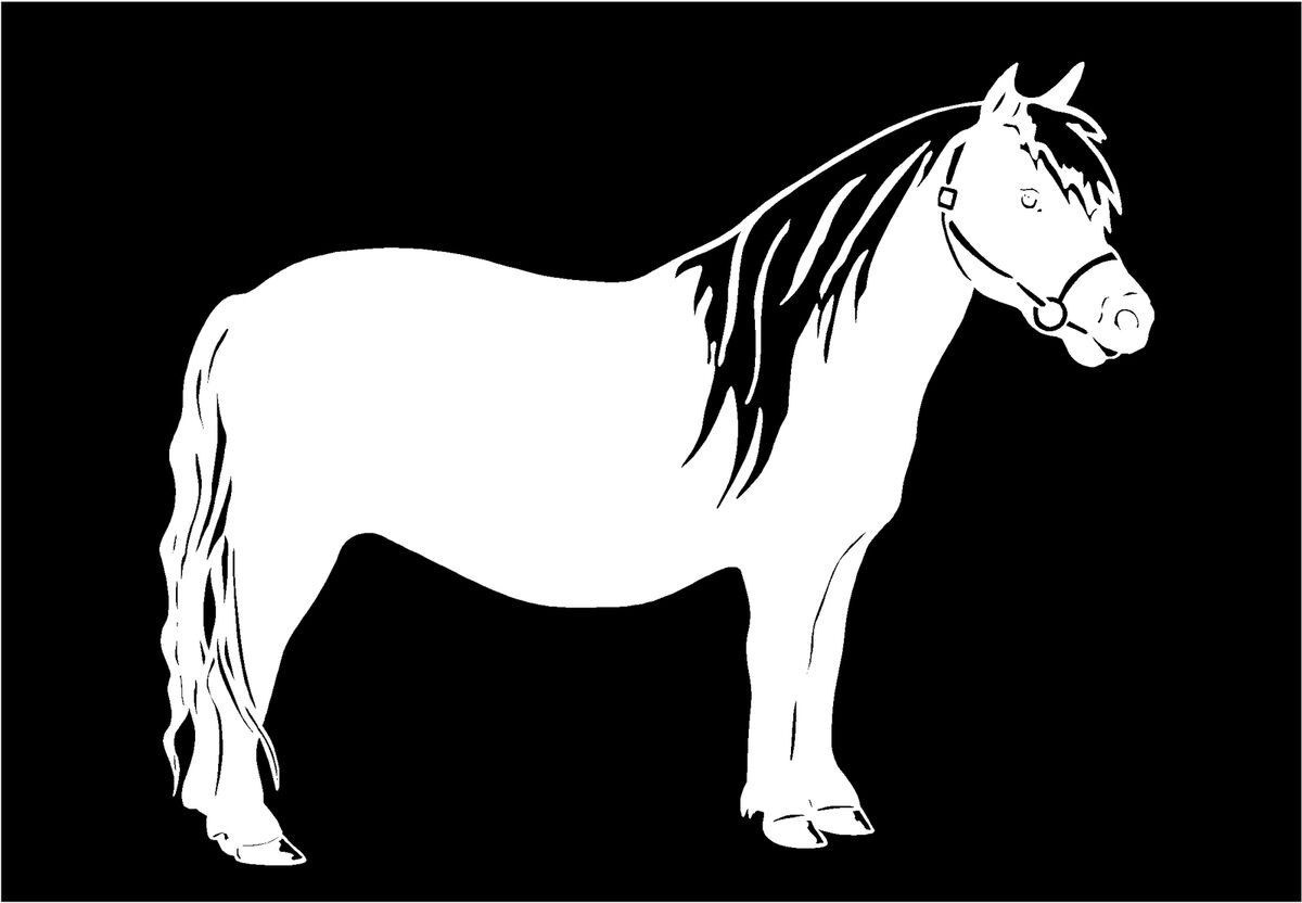 Pony Miniature Horse Decal Trailer Vinyl Car Truck Window Sticker Graphic