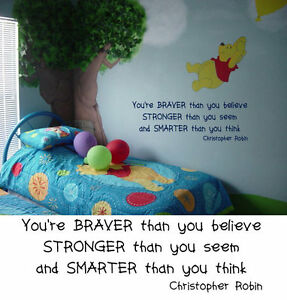 Pooh Quote Baby Room Wall Decal Nursery Decor | eBay