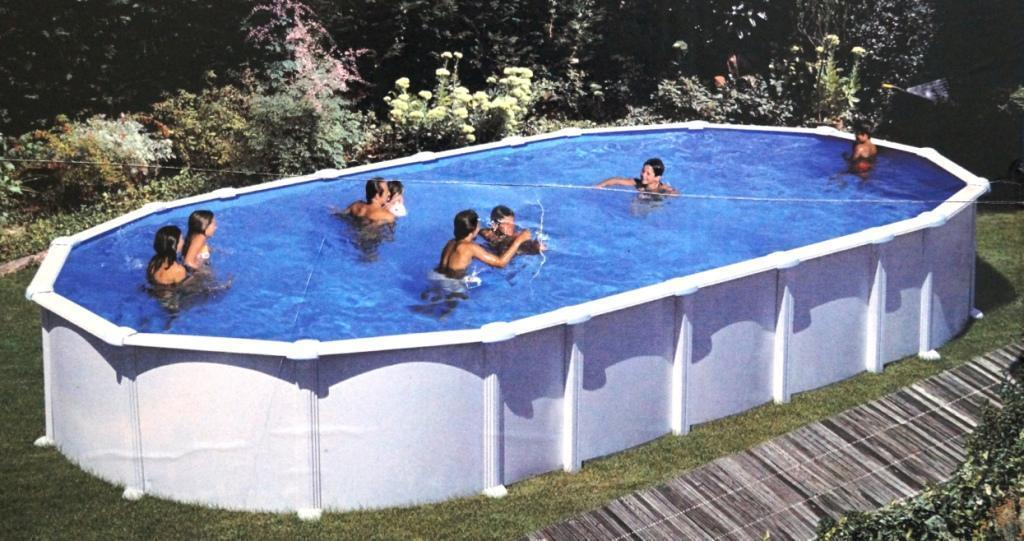 Pool stahlwandbecken oval 7 30 x 3 66 x 1 32 m stahlwand for Stahl pool oval