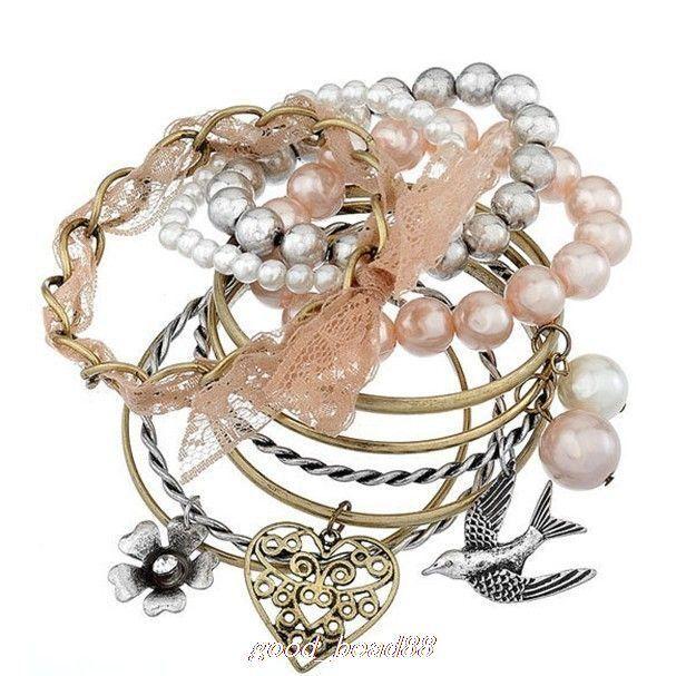 Popular fashion 1 set 10 pcs exquisite beautiful bracelet S0252