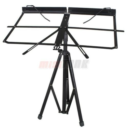 Portable 3-Section Music Stand On Stage Folding + Carrying Bag in Musical Instruments & Gear, Equipment, Stands | eBay