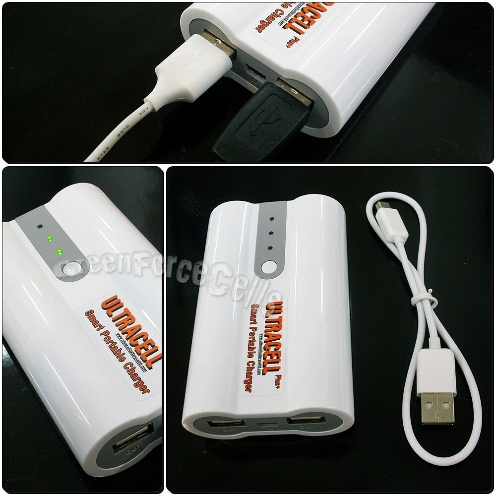 Portable Emergency Backup Mobile Phone Charger 18650 Battery to 2 Port USB Power
