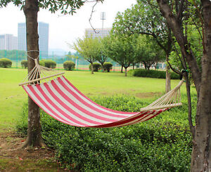Portable Outdoor Swing Fabric Camping Hanging Hammock Canvas Bed