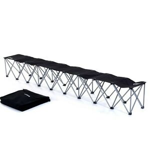 Portable Team Bench 6 Seat Folding Soccer Football Baseball Dugout 24hr Ship Ebay
