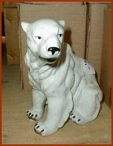 Porzellan-Figur-Porzellanfigur-Sammlerfigur-Tierfigur-Baer-Eisbaer-z43