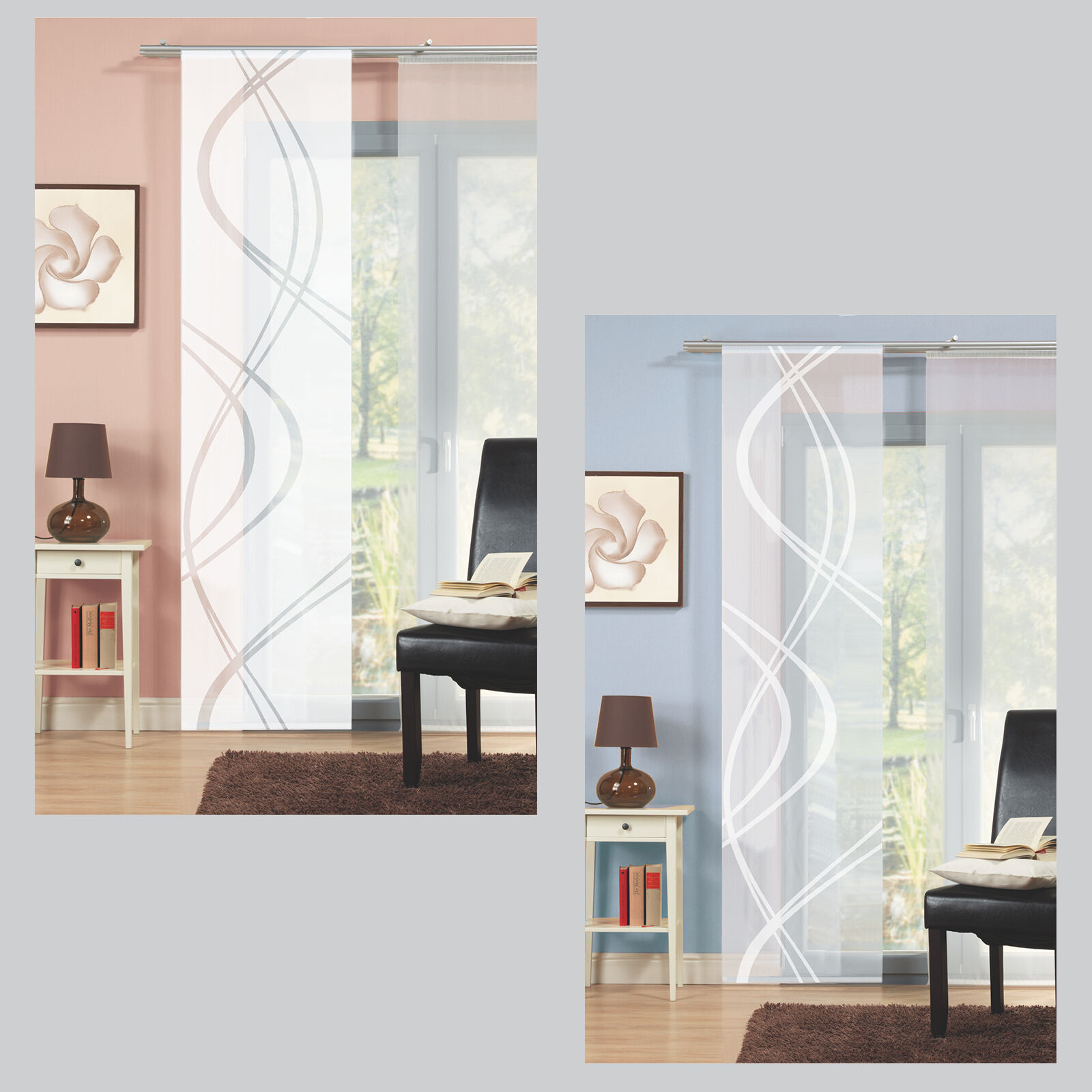 positive shaft sliding curtain sliding curtain room divider home living ideas schmidtgar ebay. Black Bedroom Furniture Sets. Home Design Ideas