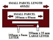 post office small parcel large letter size template royal. Black Bedroom Furniture Sets. Home Design Ideas
