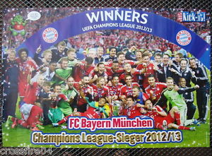 poster bayern m nchen championsleague sieger 2013 42 x 28 5 cm ebay. Black Bedroom Furniture Sets. Home Design Ideas