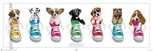 poster keith kimberlin bunte schuhe hunde welpen tiere ebay. Black Bedroom Furniture Sets. Home Design Ideas