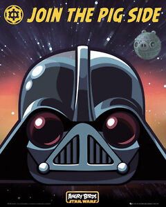 Poster-STAR-WARS-ANGRY-BIRDS-Vader-Join-The-Pig-Side-NEU-z262