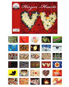 postkartenbuch herzen 30 postkarten herzen und blumen hochzeit love ebay. Black Bedroom Furniture Sets. Home Design Ideas