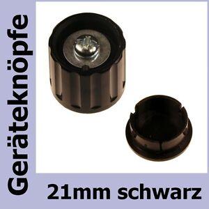 Potiknopf-6mm-Achse-DKG21-SW-Drehknopf-21mm-schwarz-853420-Deckel-853421