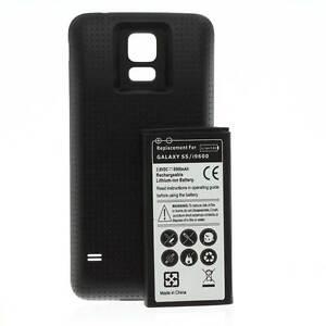 Power-Akku-Batterie-6500mah-Cover-schwarz-fuer-Samsung-Galaxy-S5-SM-G900F