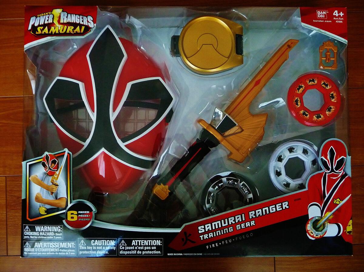 Power Rangers Samurai Ranger Training Gear Mask Spin Sword Disc Holder